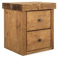 Derwent Bedside Table With Drawers   Funky Chunky Furniture